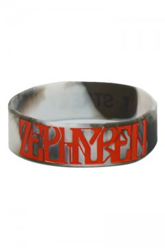 RUBBER BRACELET -VISIONARY- BLK/GRY/RED