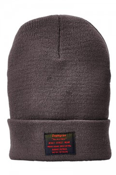 LONG BEANIE - You Are Here - CHARCOAL