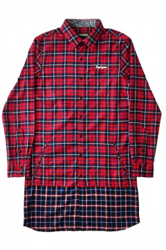 SWITCHING LONG CHECK SHIRT -Resolve- CHK/Ⅱ