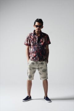 TIE DYE TRIBAL SHIRT -Resolve- RED