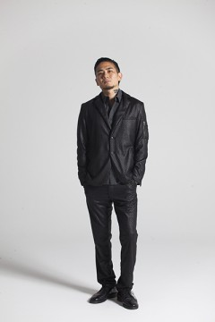 TAILORD JKT BLK/LTHER