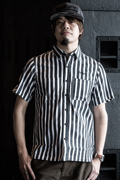 BLOCK STRIPE SHIRT S/S -Charmed SQ tone- BLK-WHT