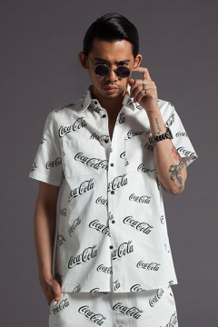 S/S SHIRT -CocaCola- WHITE
