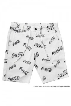 PRINT SHORTS -CocaCola- WHITE