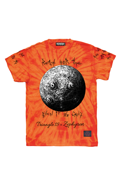 TRIANGLE'18xZephyren S/S TEE ORANGE TIE DYE