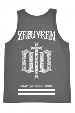 TANK TOP -ENGRAVE- CHARCOAL
