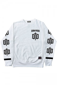 LIGHT WEIGHT SWEAT-ENGRAVE- WHT