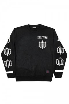 LIGHT WEIGHT SWEAT-ENGRAVE- BLK-WHT