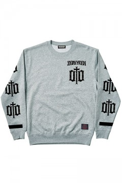 LIGHT WEIGHT SWEAT-ENGRAVE- GRY