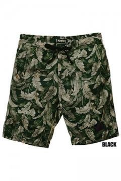 SWEAT ALOHA SHORTS BLACK