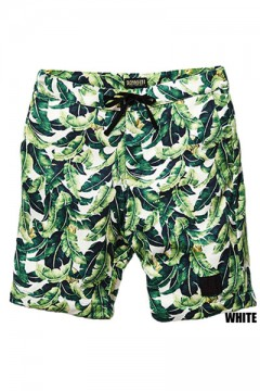 SWEAT ALOHA SHORTS WHITE