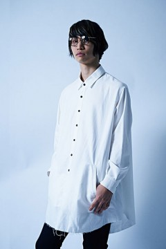 PONCHO SHIRT L/S -Resolve- WHITE