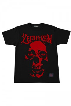 S/S TEE -SKULL HEAD- BLK/RED
