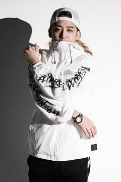 Zephyren (ゼファレン) BANDANA HOOD COACH JKT -TRUST- WHITE
