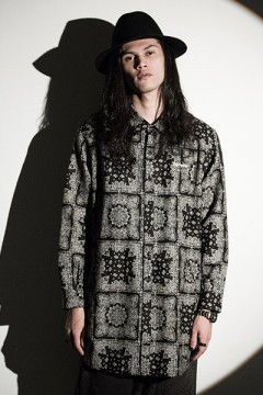 Zephyren (ゼファレン) PONCHO SHIRT L/S -Resolve- PAISLEY