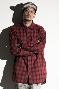 Zephyren (ゼファレン) BIG SHIRT L/S -Resolve- RED CHECK