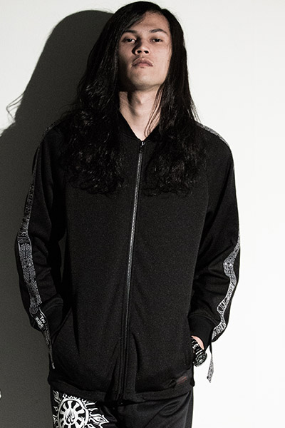 Zephyren (ゼファレン) LONG TAPE JERSEY BLACKxBLACK