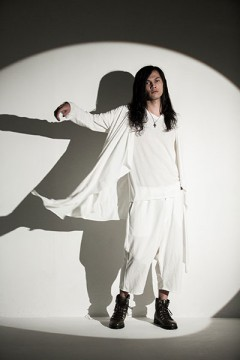 Zephyren (ゼファレン) LONG DRAPE CARDIGAN WHITE