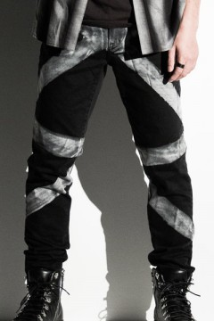 【予約商品】Zephyren (ゼファレン) GEOMETRIC SKINNY BLACK.DENIM
