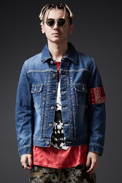 DENIM JACKET HARD WASH / BANDANNA