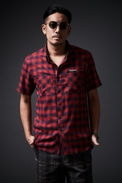 【予約商品】CHECK SHIRT S/S RED