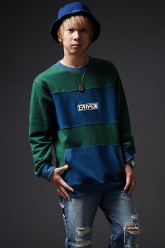 MIX BIG SWEAT GREEN / NAVY