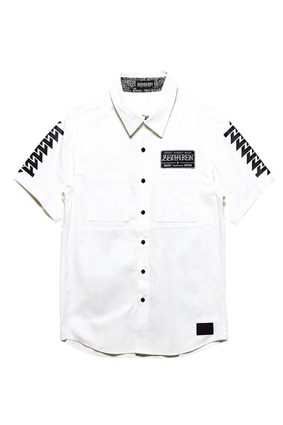 EMBLEM SHIRT S/S WHITE / Cut the world