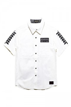 【予約商品】EMBLEM SHIRT S/S WHITE / Cut the world