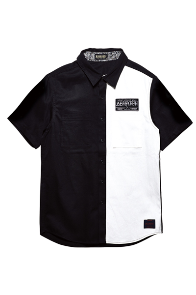 EMBLEM SHIRT S/S BLACK / WHITE