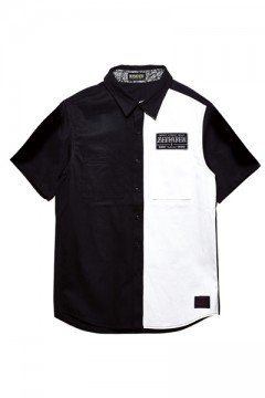 【予約商品】EMBLEM SHIRT S/S BLACK / WHITE