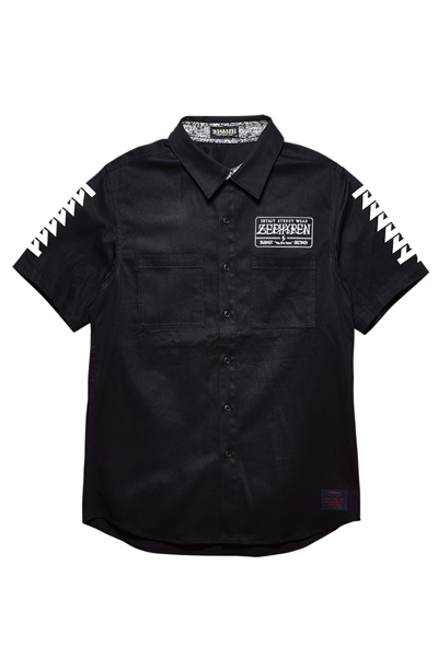 EMBLEM SHIRT S/S BLACK / Cut the world