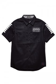 【予約商品】EMBLEM SHIRT S/S BLACK / Cut the world