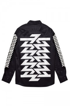 EMBLEM SHIRT L/S BLACK / WHITE / Cut the world