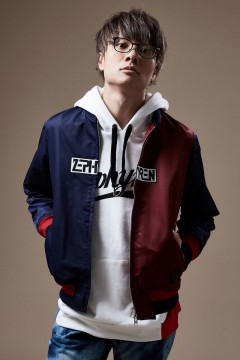 NYLON JACKET NAVY / BURGUNDY
