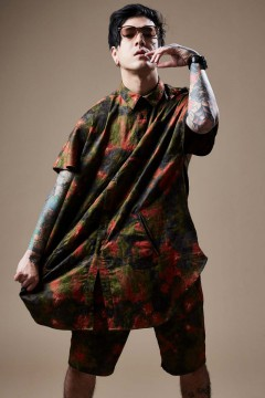 LONG SHIRT S/S TIEDYE