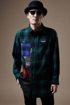 DAMEGE SHIRT L/S GREEN