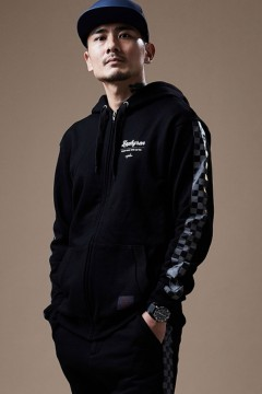CHECKERED FLAG PARKA BLACK