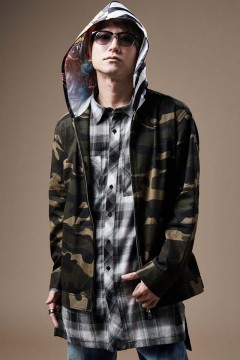 HOOD GRAPHIC JACKET CAMO