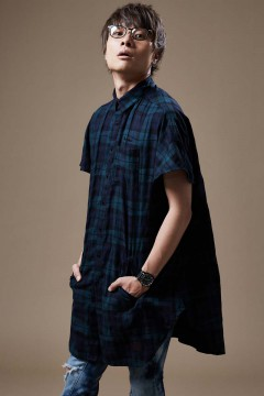 LONG SHIRT S/S CHECK