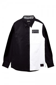 【予約商品】Zephyren(ゼファレン) EMBLEM SHIRT L/S BLACK / WHITE