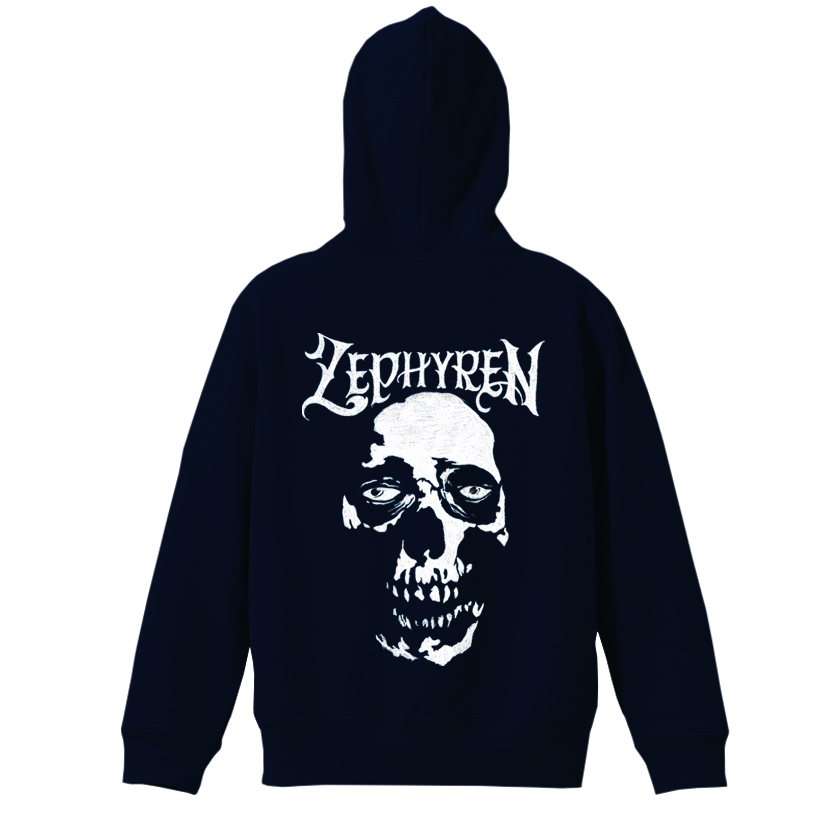 ZIP PARKA - SKULL HEAD - NAVY