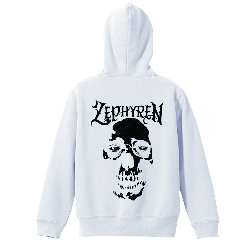 ZIP PARKA - SKULL HEAD - WHITE