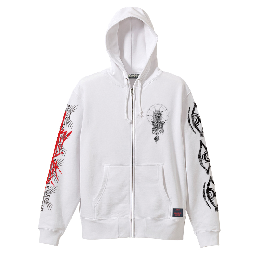 ZIP PARKA - As above,So below - WHITE