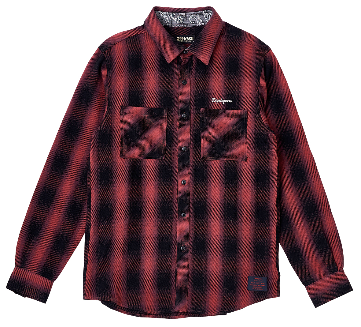 CHECK SHIRT L/S - Resolve -  BLACK / RED