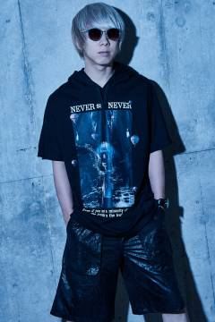 【予約商品】Zephyren(ゼファレン) DOLMAN BIG HOODY S/S BLACK / NEVER say NEVER