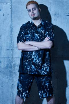 【予約商品】Zephyren(ゼファレン) OPEN COLOR SHIRT- Ailiph Doepa × Zephyren - BLACK