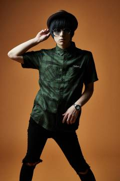 CHECK SHIRT S/S GREEN