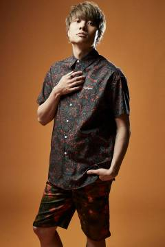【予約商品】Zephyren(ゼファレン)BIG SHIRT S/S BURGUNDY / PAISLEY
