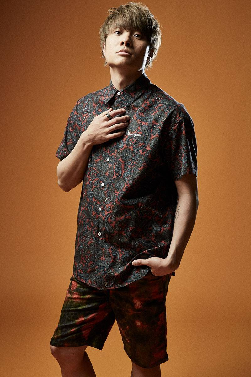 BIG SHIRT S/S BURGUNDY / PAISLEY