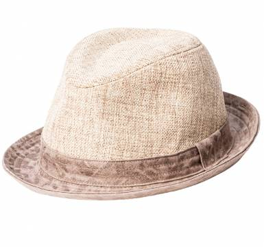 SYNTHETIC LINEN HAT BEIGE